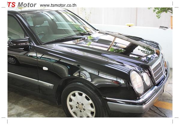 IMG 64861 พ่นสีรอบคัน Mercedes Benz E200 ตากลม