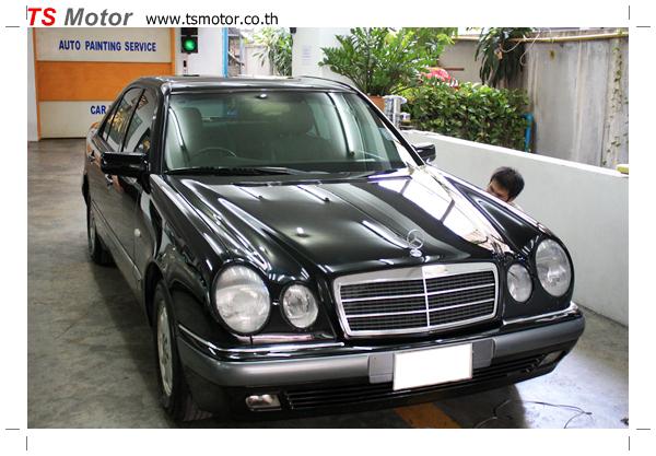 IMG 6498 พ่นสีรอบคัน Mercedes Benz E200 ตากลม