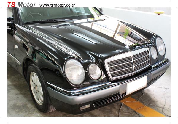 IMG 6508 พ่นสีรอบคัน Mercedes Benz E200 ตากลม