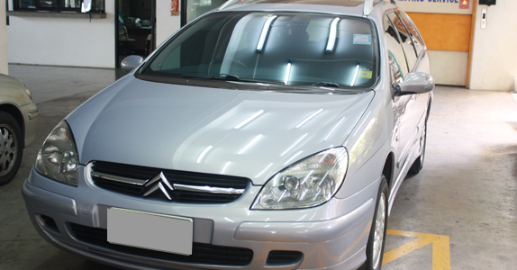 Citroen C5 VAN body painting repair and fenders: By TS Motor Car Painting Shop (Bangkok, Pathumwan)