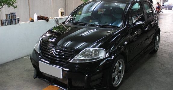 Citroen C3 Body kit paint and repair : By TS Motor Auto Painting Shop (Bangkok, Pathumwan)