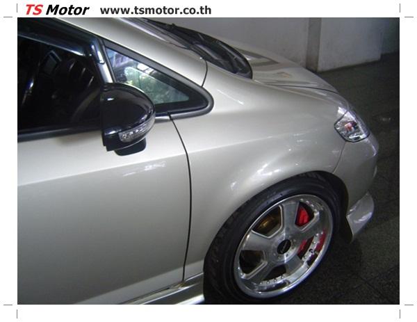 DSC00604 งานตีโป่งรถยนต์ Honda City สีบรอนซ์ทอง โปร่งหน้า โปร่งหลัง พร้อมโมกันชน