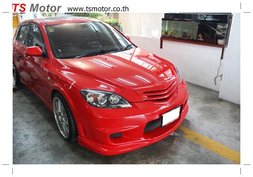 IMG 0282 เปลี่ยนสีรถ รถยนต์ Mazda 3 เป็นสีแดงสด พร้อมตีโป่งรอบคัน Style Mazda Speed + ชุดแต่ง Ing+1