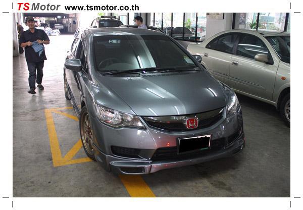 IMG 1155 อู่ทำสีรถยนต์ งานซ่อมสีรถ Honda Civic FD สีเทา เจาะแก้มลาย 1 จาก TS Motor