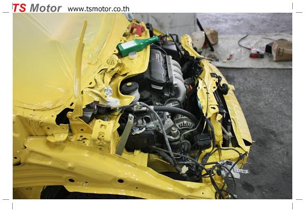 IMG 18151 งานเปลี่ยนสีรถยนต์ Honda New Jazz 2010 ดำ เป็นสีเหลือง JS จาก อู่สีรถ TS Motor