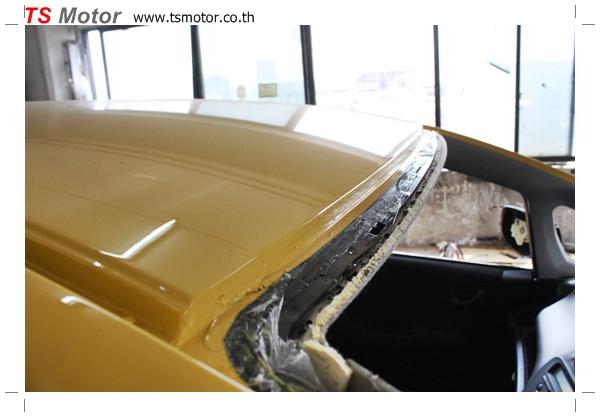 IMG 1946 งานเปลี่ยนสีรถยนต์ Honda New Jazz 2010 ดำ เป็นสีเหลือง JS จาก อู่สีรถ TS Motor