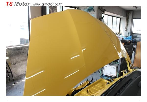 IMG 1953 งานเปลี่ยนสีรถยนต์ Honda New Jazz 2010 ดำ เป็นสีเหลือง JS จาก อู่สีรถ TS Motor