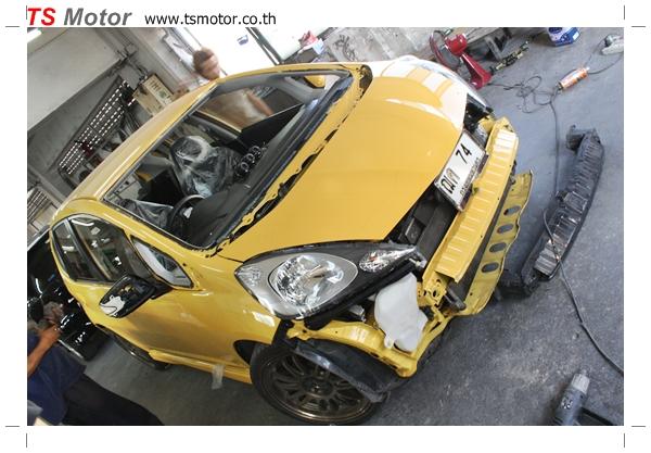 IMG 2018 งานเปลี่ยนสีรถยนต์ Honda New Jazz 2010 ดำ เป็นสีเหลือง JS จาก อู่สีรถ TS Motor