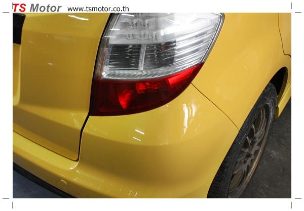 IMG 2023 งานเปลี่ยนสีรถยนต์ Honda New Jazz 2010 ดำ เป็นสีเหลือง JS จาก อู่สีรถ TS Motor