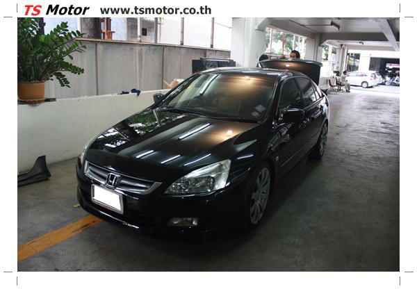 งานทำสีรถยนต์ Honda Accord G7 สีดำ รอบคัน