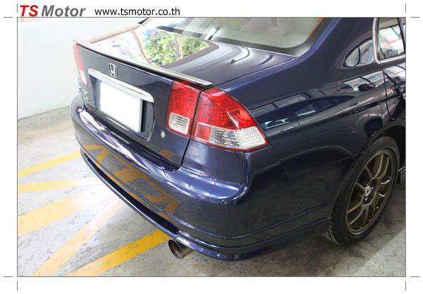 IMG 2223 ศูนย์ทำสีรถยนต์ งานซ่อมสีชิ้นส่วนรถยนต์ Honda Dimension สีน้ำเงิน