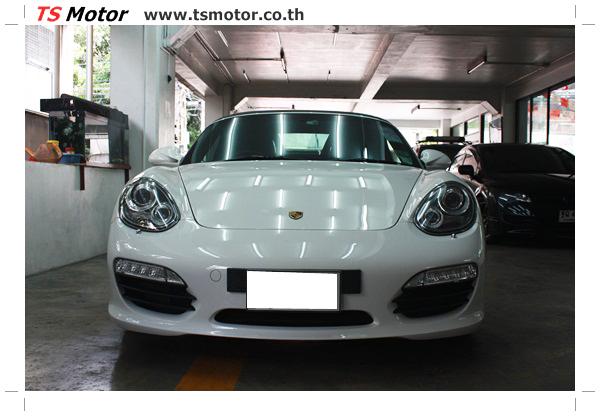 อู่ซ่อมสี ศูนย์ซ่อมสี Porsche 911 Boxster  สีขาว พ่นสี เก็บสีชิ้นส่วน โดย ศูนย์ซ่อมสีรถ TS Motor