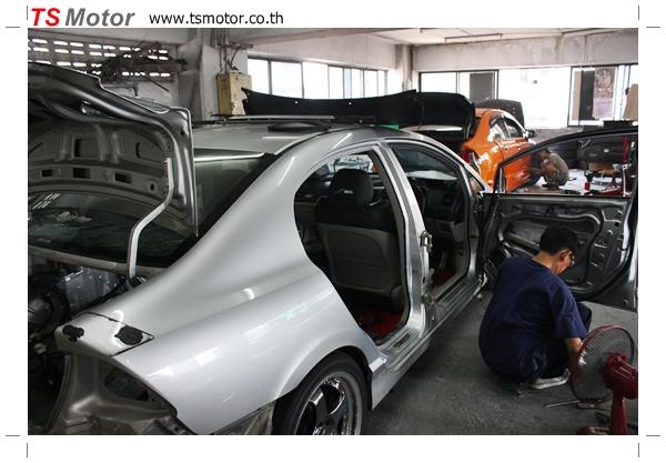 IMG 2759 TS Motor งานเปลี่ยนสีรถยนต์ Honda Civic FD สีแดง พร้อมเจาะแก้มลาย2 จัดกันแบบเต็มๆ Step 1 ถึงจบ