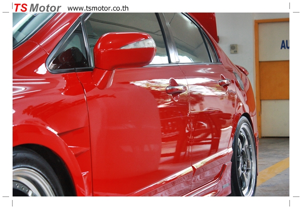 IMG 3989 TS Motor งานเปลี่ยนสีรถยนต์ Honda Civic FD สีแดง พร้อมเจาะแก้มลาย2 จัดกันแบบเต็มๆ Step 1 ถึงจบ