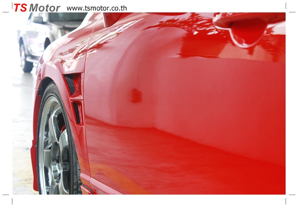 IMG 3991 TS Motor งานเปลี่ยนสีรถยนต์ Honda Civic FD สีแดง พร้อมเจาะแก้มลาย2 จัดกันแบบเต็มๆ Step 1 ถึงจบ