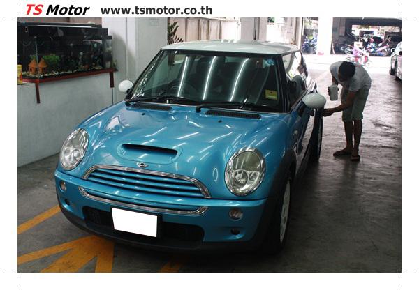 IMG 3995 งานซ่อมสีตัวถัง อู่ทำสี Mini Cooper งานทำสีรถ มินิ คูเปอร์ เอส สีฟ้า