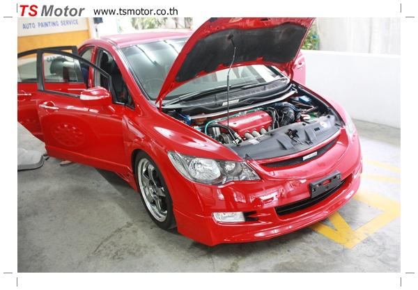 IMG 39981 TS Motor งานเปลี่ยนสีรถยนต์ Honda Civic FD สีแดง พร้อมเจาะแก้มลาย2 จัดกันแบบเต็มๆ Step 1 ถึงจบ
