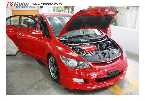 IMG 39991 TS Motor งานเปลี่ยนสีรถยนต์ Honda Civic FD สีแดง พร้อมเจาะแก้มลาย2 จัดกันแบบเต็มๆ Step 1 ถึงจบ