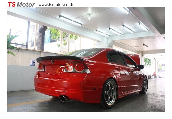 IMG 4016 TS Motor งานเปลี่ยนสีรถยนต์ Honda Civic FD สีแดง พร้อมเจาะแก้มลาย2 จัดกันแบบเต็มๆ Step 1 ถึงจบ