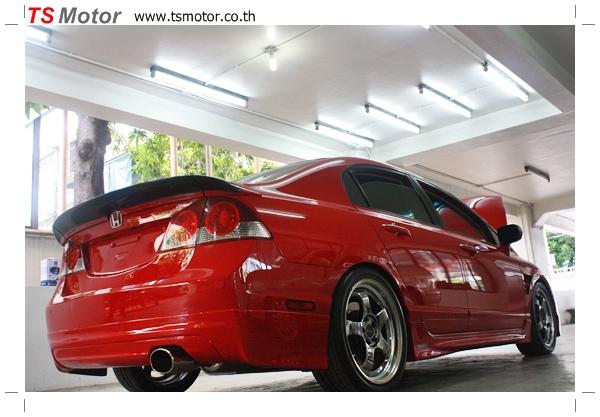 IMG 40191 TS Motor งานเปลี่ยนสีรถยนต์ Honda Civic FD สีแดง พร้อมเจาะแก้มลาย2 จัดกันแบบเต็มๆ Step 1 ถึงจบ