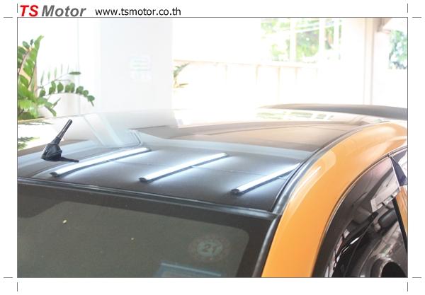 IMG 4498 งานเปลี่ยนสีรถยนต์ Honda Jazz 2007 สีส้ม หลังคาดำ ผลงานจาก อู่สีรถ TS Motor