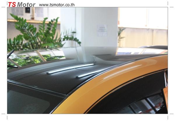 IMG 4499 งานเปลี่ยนสีรถยนต์ Honda Jazz 2007 สีส้ม หลังคาดำ ผลงานจาก อู่สีรถ TS Motor