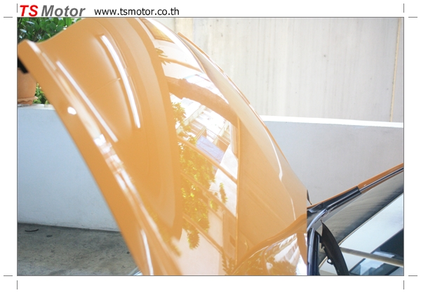 IMG 4505 งานเปลี่ยนสีรถยนต์ Honda Jazz 2007 สีส้ม หลังคาดำ ผลงานจาก อู่สีรถ TS Motor