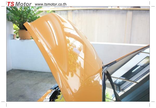 IMG 4506 งานเปลี่ยนสีรถยนต์ Honda Jazz 2007 สีส้ม หลังคาดำ ผลงานจาก อู่สีรถ TS Motor