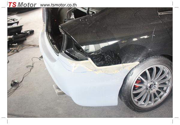 IMG 4553 อู่สีรถยนต์ งานเจาะแก้มรถลาย 1 Honda Civic FD พ่นสีรอบคัน สีดำ zero black