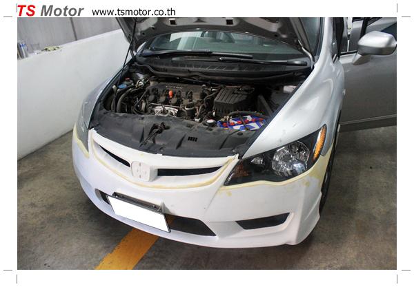 IMG 4807 อู่ทำสีรถยนต์ งานเปลี่ยนสี Honda Civic FD เป็นสีน้ำเงิน Type R พร้อมเปลี่ยนชุดแต่ง Type R