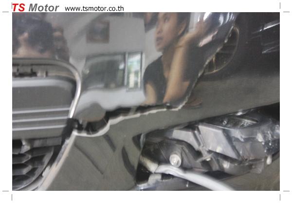 IMG 4976 อู่ ซ่อมสีรถยนต์ อู่ซ่อมสีรถ MAZDA 3  สีดำ โดย ศูนย์บริการ TS Motor เปลี่ยนกันชนหน้า อะไหล่