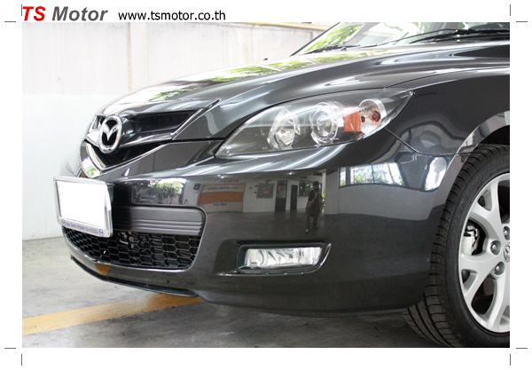 IMG 5228 อู่ ซ่อมสีรถยนต์ อู่ซ่อมสีรถ MAZDA 3  สีดำ โดย ศูนย์บริการ TS Motor เปลี่ยนกันชนหน้า อะไหล่