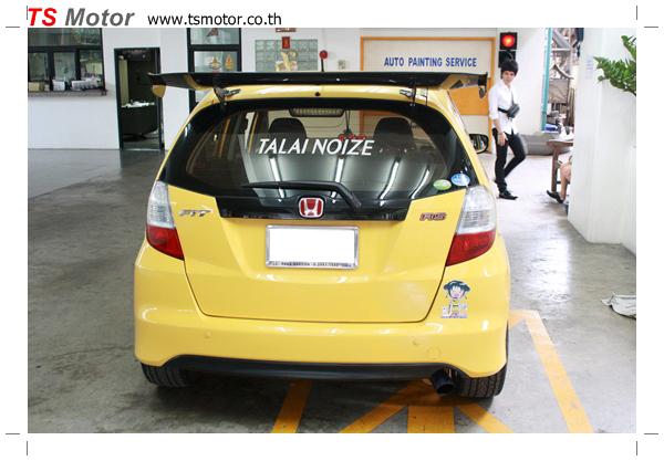 IMG 6076 งานเปลี่ยนสีรถยนต์ Honda New Jazz 2010 ดำ เป็นสีเหลือง JS จาก อู่สีรถ TS Motor