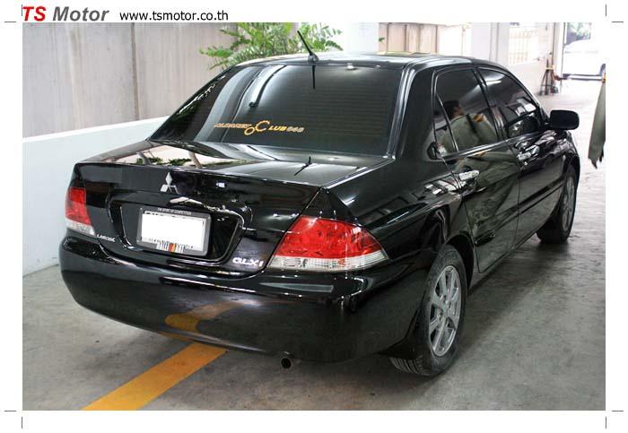 IMG 6372 พ่นสีรอบคัน Mitsubishi New Lancer เป็นสีดำสนิท เงาสุดๆ จาก TS Motor
