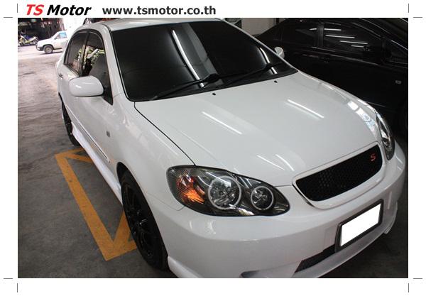 อู่ซ่อมสี ศูนย์ซ่อมสี Toyota Altis  สีขาวมุก Zero Black เปลี่ยนสีรอบคัน ติดตั้งชุดแต่ง Levin โดย ศูนย์ซ่อมสีรถ TS Motor