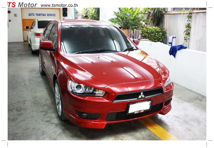 IMG 8794 เปลี่ยนสีรถ Mitsubishi Lancer EX เดิมสีแดง เป็น สีแดง Evo จาก อู่ทำสี TS Motor