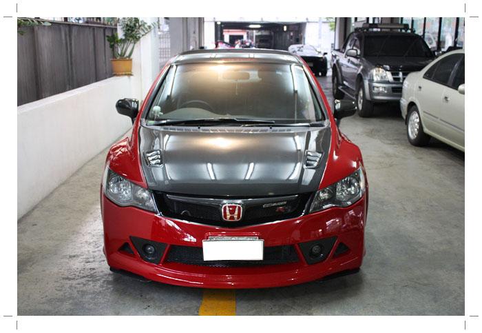 IMG 8983 TS Motor งานซ่อมสีรถยนต์ Honda Civic Mugen RR + เก็บสีชุดแต่ง Feels สีแดง RR