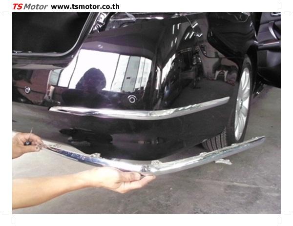 IMG 0320 อู่ซ่อมสี ศูนย์ซ่อมสี Nissan TEANA  สีดำ พ่นสี เปลี่ยนอะไหล่ กันชนหลัง โดยการ เคลมประกัน โดย TS Motor