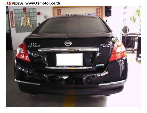 IMG 0342 อู่ซ่อมสี ศูนย์ซ่อมสี Nissan TEANA  สีดำ พ่นสี เปลี่ยนอะไหล่ กันชนหลัง โดยการ เคลมประกัน โดย TS Motor