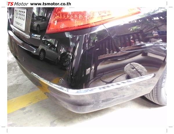 IMG 0344 อู่ซ่อมสี ศูนย์ซ่อมสี Nissan TEANA  สีดำ พ่นสี เปลี่ยนอะไหล่ กันชนหลัง โดยการ เคลมประกัน โดย TS Motor