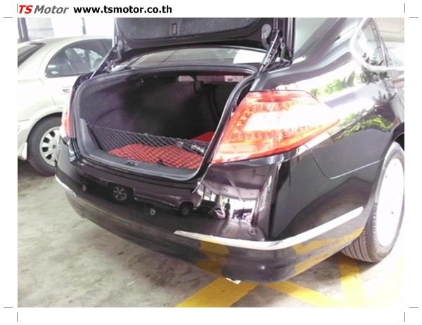 IMG 0354 อู่ซ่อมสี ศูนย์ซ่อมสี Nissan TEANA  สีดำ พ่นสี เปลี่ยนอะไหล่ กันชนหลัง โดยการ เคลมประกัน โดย TS Motor