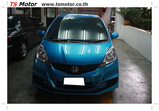 IMG 2148 งานทำสีรถยนต์ Honda New Jazz สีน้ำเงิน จาก ศูนย์บริการซ่อมสีรถ TS Motor
