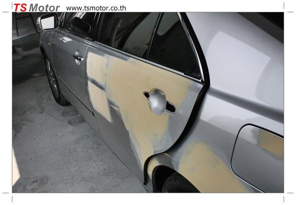 IMG 2565 งานเคาะพ่นสี เปลี่ยนอะไหล่ Nissan Sunny Saloon  สีบรอนซ์ โดยการ เคลมประกัน โดย TS Motor