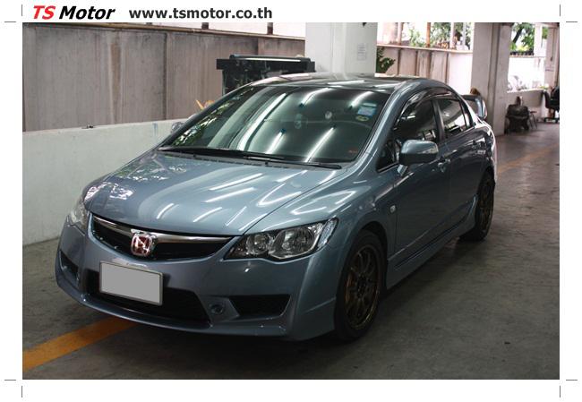 IMG 2580 อู่ซ่อมสีรถยนต์ อู่ทำสีรถยนต์ Honda Civic FD สีเทา บลูอิช พร้อมชุดแต่ง Type R รอบคัน