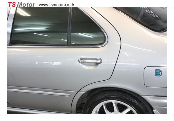 IMG 2864 Copy งานเคาะพ่นสี เปลี่ยนอะไหล่ Nissan Sunny Saloon  สีบรอนซ์ โดยการ เคลมประกัน โดย TS Motor