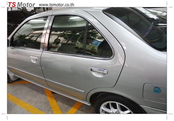 IMG 2872 งานเคาะพ่นสี เปลี่ยนอะไหล่ Nissan Sunny Saloon  สีบรอนซ์ โดยการ เคลมประกัน โดย TS Motor