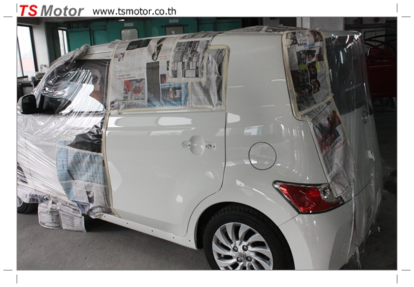IMG 3544 อู่ซ่อมสี ศูนย์ซ่อมสี Toyota BB  สีขาว โดย ศูนย์ซ่อมสีรถ TS Motor