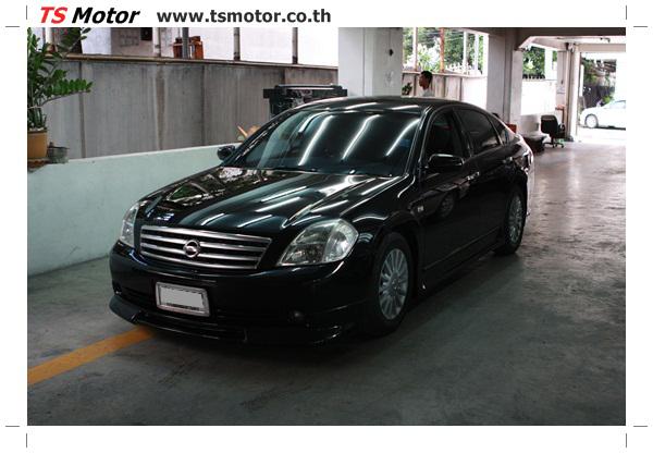 IMG 4027 งานเคาะ พ่นสีรอบคัน Nissan TEANA  สีดำ โดยการ เคลมประกัน โดย TS Motor