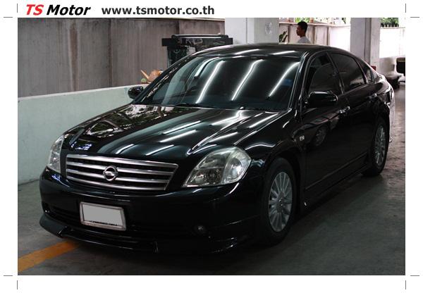 IMG 4028 งานเคาะ พ่นสีรอบคัน Nissan TEANA  สีดำ โดยการ เคลมประกัน โดย TS Motor