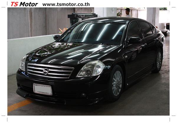 IMG 4029 งานเคาะ พ่นสีรอบคัน Nissan TEANA  สีดำ โดยการ เคลมประกัน โดย TS Motor